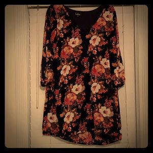 Lulu floral, long sleeve, dress